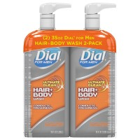 Dial for Men Ultimate Clean Hair + Body Wash, Ultimate Clean - 35 fl. oz. (Pack of 2)