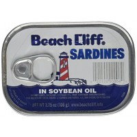 Beach Cliff Sardines In Soybean Oil - 3.75 oz.