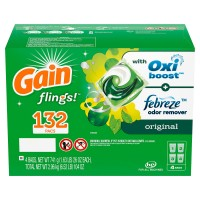 Gain flings! +AromaBoost Laundry Detergent Pacs, Original (132 Count)