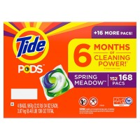 Tide PODS Liquid Laundry Detergent Pacs, Spring Meadow (168 Count)
