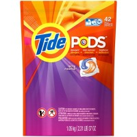 Tide PODS Liquid Laundry Detergent Pacs, Spring Meadow (42 Count)
