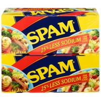 Spam Less Sodium - 12 oz (Pack of 8)