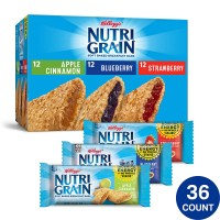 Kellogg's Nutri-Grain Bars Variety Pack - 1.3 Oz. (Case of 36)