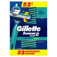 Gillette Sensor2 Plus Disposable Razors (52 Count)