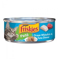 Purina Friskies Pate Ocean Whitefish & Tuna Dinner Wet Cat Food - 5.5 oz.