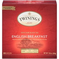 Twinings English Breakfast Black Tea Bags - 100 Count (1 Box)
