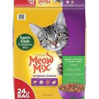 Meow Mix Original Choice Dry Cat Food, Heart Health & Oral Care Formula - 24 Lbs.