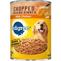 Pedigree Chopped Ground Dinner Wet Dog Food, With Chicken - 13.2 oz.