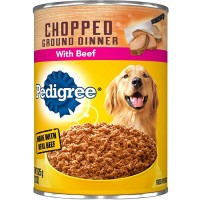 Pedigree Chopped Ground Dinner Wet Dog Food, With Beef - 13.2 oz.