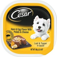 Cesar Classic Loaf in Sauce Gourmet Wet Dog Food, Ham & Egg with Potato & Cheese - 3.5 oz.