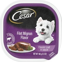 Cesar Classic Loaf in Sauce Gourmet Wet Dog Food, Filet Mignon - 3.5 oz.