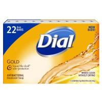 Dial Antibacterial Deodorant Soap, Gold - 4 oz. (22 Count)