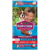 Purina Puppy Chow Tender & Crunchy Dry Dog Food - 40 Lbs.
