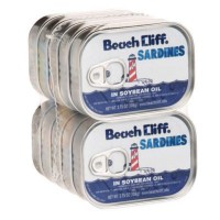 Beach Cliff Sardines In Soybean Oil - 3.75 oz (Case of 10)