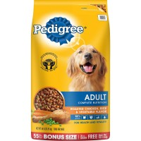 Pedigree Adult Complete Nutrition Roasted Chicken, Rice and Vegetable Dry Dog Food - 55 lbs. - 18 bags Per PALLET