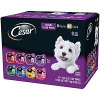 Cesar Canine Cuisine Wet Dog Food, 8 Flavor Variety Pack Classic Loaf in Sauce - 3.5 oz. (Case of 40)