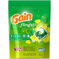 Gain flings! +AromaBoost Laundry Detergent Pacs, Original (33 Count)