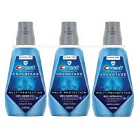 Crest ProHealth Advantage Rinse, Smooth Mint - 33.8 fl. oz. (Pack of 3)