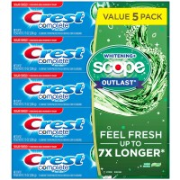 Crest Complete Whitening + Scope Toothpaste - 7.3 oz (Pack of 5)