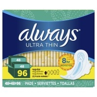 Always Ultra Thin Regular Pads with Wings (96 Count)