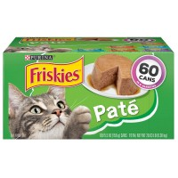 Purina Friskies Pate Wet Cat Food, Variety Pack - 5.5 oz. (Case of 60)
