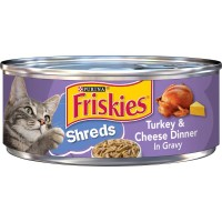 Friskies Savory Shreds Turkey & Cheese Dinner in Gravy - 5.5 oz.