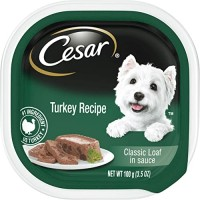 Cesar Classic Loaf in Sauce Gourmet Wet Dog Food, Turkey Recipe - 3.5 oz.