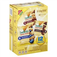 Mondelez 05582 Belvita Bites Snack Packs - Assorted Flavors - 12 Pack (4 Boxes)
